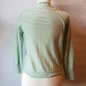 J. Crew Sweaters - J. Crew merino wool cardigan light green applique